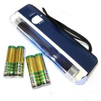 Детектор валют ручний ультрафіолетовий + 4 батарейки в комплекті