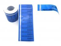 Індикаторні пломби-наклейки 19х72 мм, червона і синя. НЕ залишає слід на об'єкті