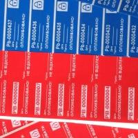 Індикаторні пломби-наклейки c печаткою штрих-коду і друк білим принтом (послуга)