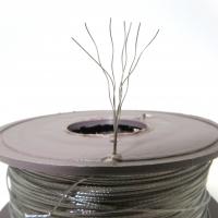 Трос пломбувальний нержавіючий семижильный d=0,5 мм, в бобіні 100м
