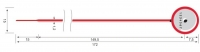 Пломба ВЕГО, діаметр хвостовика 1,2 мм