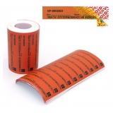 Індикаторні пломби-наклейки 20х70 мм, ЗАЛИШАЄ слід на об'єкті