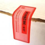 Пломбувальна наклейка ПСТ 27х76, в рулоні 1000 шт.