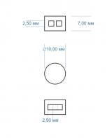 Поліетиленові пломби, 2540шт, 10мм, від 312 грн. /кг. ГОСТ 19133-73